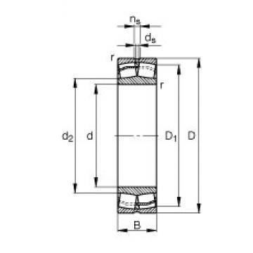 45 mm x 85 mm x 23 mm  FAG 22209-E1  Spherical Roller Bearings