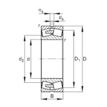 360 mm x 540 mm x 180 mm  FAG 24072-E1A-MB1  Roller Bearings
