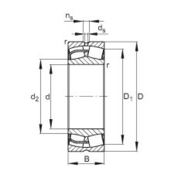 320 mm x 540 mm x 218 mm  FAG 24164-E1  Roller Bearings